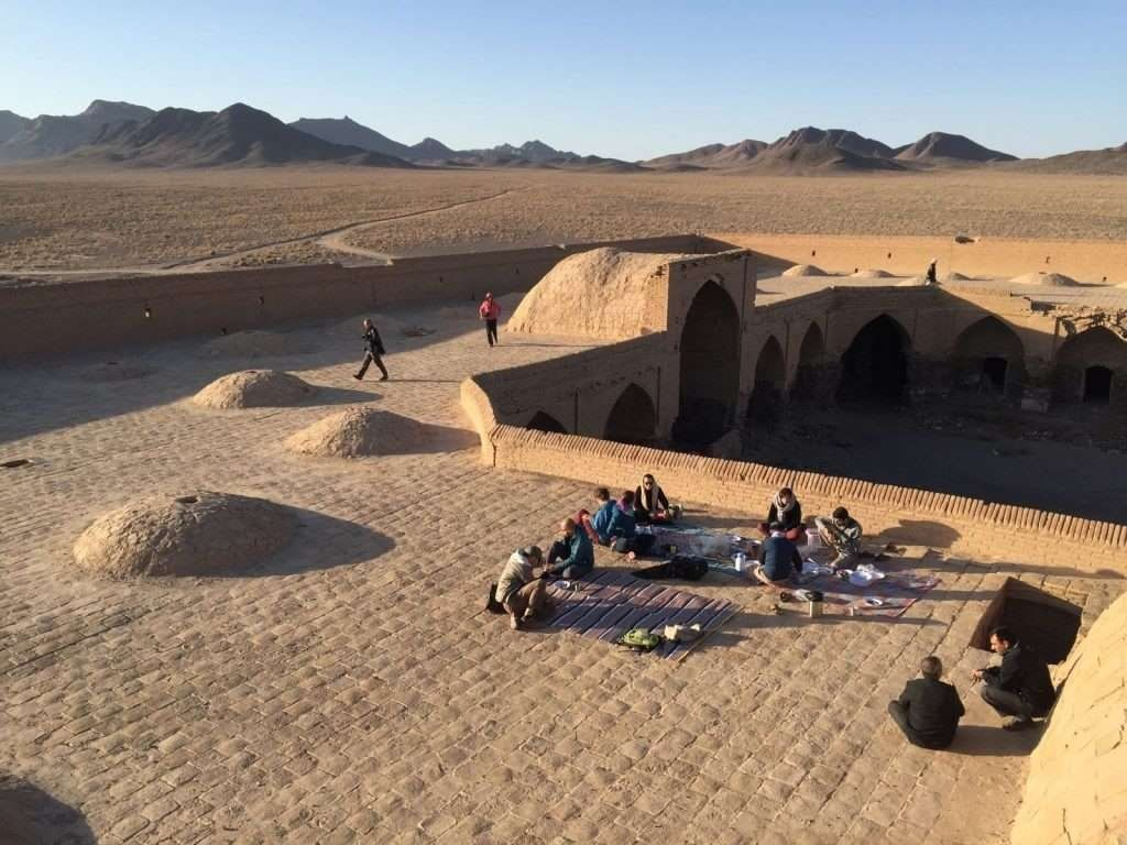 Carvanserai in the middle of the desert