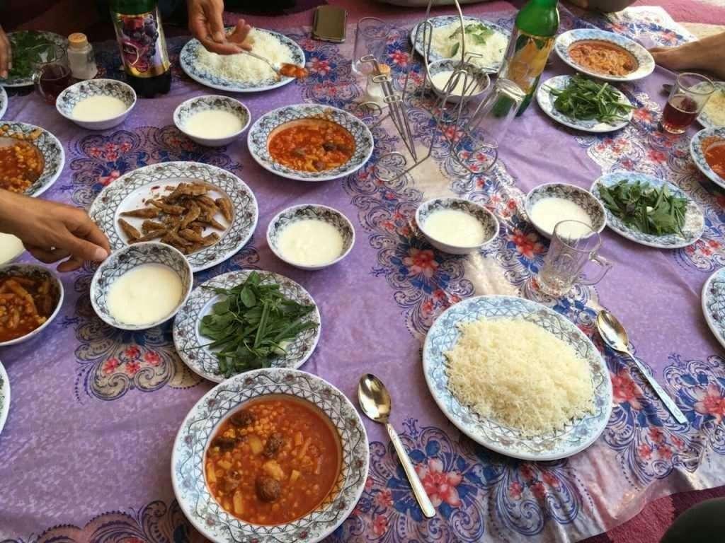 iranian meals varzaneh isfahan